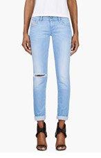 DIESEL Blue Distressed Skinny Get Legg L.32 Jeans for women