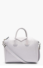 GIVENCHY Grey Leather Antigona Sugar Medium Duffle Bag for women