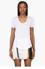HELMUT LANG White Jersey Kinetic T-Shirt for women