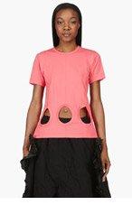 COMME DES GARÇONS Pink Midriff Cut-Out T-Shirt for women