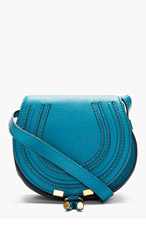 CHLOE Blue Leather Marcie Small Satchel for women