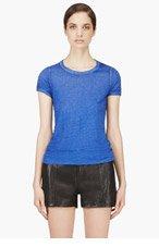 IRO Cobalt Blue Faded Mariza T-shirt for women