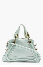 CHLOE Mint Grained Leather Medium Paraty Shoulder Bag for women