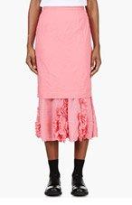 COMME DES GARÇONS Pink Broad Ester Layered Skirt for women