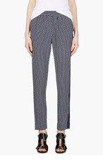 MARC BY MARC JACOBS Navy silk Cedar Print Juna trousers for women