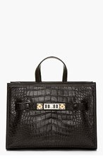 PROENZA SCHOULER Black Alligator leather PS11 Large tote for women