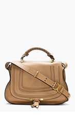 CHLOE Brown Leather Marcie Medium Messenger Bag for women