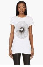 SILENT BY DAMIR DOMA Ivory white Burst print TALIS t-shirt for women