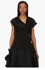 COMME DES GARÇONS Black Sheer Georgette Blouse for women