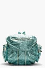 ALEXANDER WANG Aqua Lambskin Metallic Marti Backpack for women