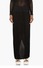 SILENT BY DAMIR DOMA Black Jersey Maxi Ranya Skirt for women