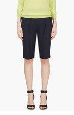 NINA RICCI Navy pleated shorts for women