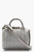 ALEXANDER WANG Grey Shrunken Lambskin Rockie Handbag for women