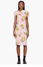 COMME DES GARÇONS Pink Floral Stretch Midi Dress for women