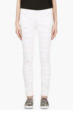 MCQ ALEXANDER MCQUEEN White Regular slash jeans for women