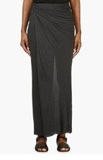 HELMUT LANG Grey Jersey Knotted Lush Skirt for women