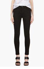J BRAND Black Sateen Luxe High Rise Jeans for women