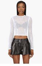 ALEXANDER WANG White Peroxide Shrunken Sweater for women