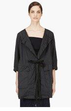 NINA RICCI Black Stowable Rain Coat for women