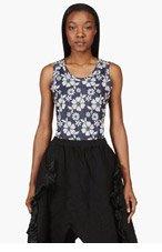 COMME DES GARÇONS Navy Floral Embroidery Print Bodysuit for women