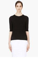 NINA RICCI Black Fine Wool Lace-Up Sweater for women