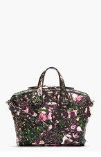 GIVENCHY Black Floral Print Nightingale Shoulder Bag for women