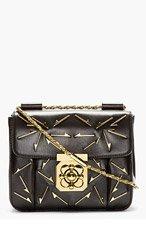 CHLOE Black Leather Arrow Elsie Small Shoulder Bag for women