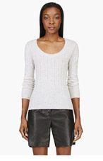NINA RICCI Beige Fine-knit Sweater for women