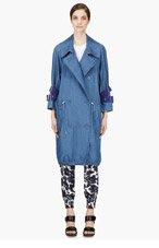 ACNE STUDIOS Indigo denim belted-sleeve Jules coat for women