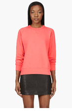 LEVI'S VINTAGE CLOTHING Coral Pink 1950's Classic Sweatshirt for women