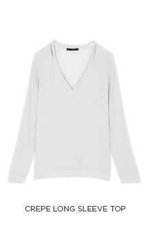Crepe Long Sleeve Top