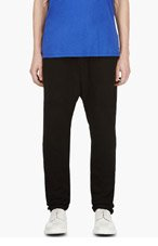 SILENT BY DAMIR DOMA Black Textured Persis Harem Lounge Pants for men