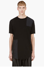 DAMIR DOMA Black Patch Detail T-Shirt for men