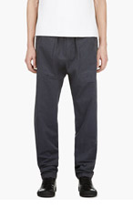 SILENT BY DAMIR DOMA Grey Sueded Cotton Lounge Pants for men
