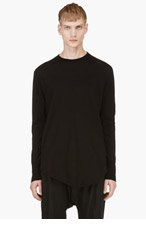 DAMIR DOMA Black Long Sleeve T-shirt for men