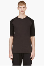 SILENT BY DAMIR DOMA Slate Blue Layered Reversible T-Shirt for men