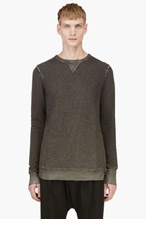 SILENT BY DAMIR DOMA Grey Bias Cut Paneled Sweatershirt for men