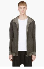 SILENT BY DAMIR DOMA Grey Textured Hoodie for men