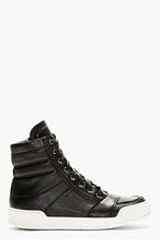 BALMAIN Black Hi-Top Sneakers for men