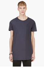 SILENT BY DAMIR DOMA Black Layered Sleeve Raglan Tunci T-Shirt for men