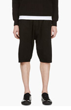 SILENT BY DAMIR DOMA Black Angled Seams Shorts for men