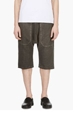 SILENT BY DAMIR DOMA Grey Drop Crotch Lounge Shorts for men