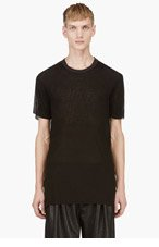 SILENT BY DAMIR DOMA Black Micro Perforated Tari T-Shirt for men