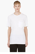 SILENT BY DAMIR DOMA Ivory white welt pocket t-shirt for men