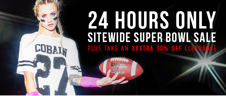 24 hour only sitewide superbowl sale
