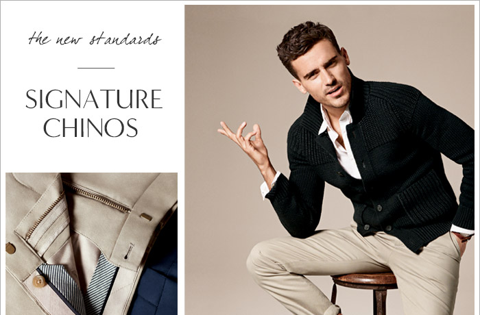 the new standards | SIGNATURE CHINOS