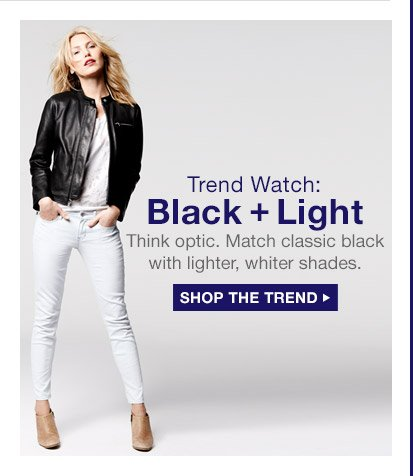 Trend Watch: Black + Light | SHOP THE TREND