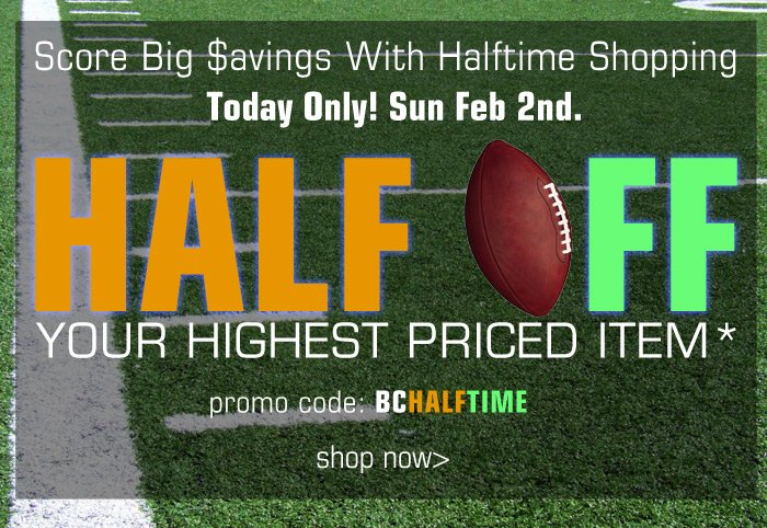 Score Big Savings with Halftime Shopping