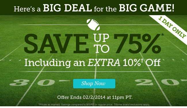 Save up to 75% Including an Extra 10% Off. Shop Now.