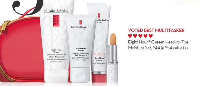 3. VOTED BEST MULTITASKER. Eight Hour® Cream Head-to-Toe Moisture Set, $44 (a $54 value).